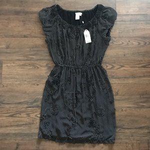 Sophie Max Black & Ivory Polka Dotted Sandra Dress